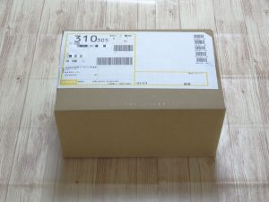 アスミールが届いた箱
